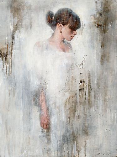 Emily Original Alkyd Oil Painting by UK Figurative Artist Jonathan Brier  Art Broken Realism Artwork