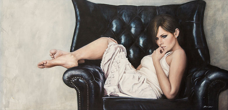 Butterfly Thoughts Original Alkyd Oil Painting by UK Figurative Artist Jonathan Brier  Art Broken Realism Artwork