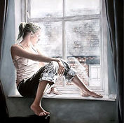 A Room With A View, Figurative Art, Modern Realism, Abstract Figurative Realism, Oil Painting, Realistic Paintings, Contemporary Painters, Contemporary Art, Figurative Paintings, Brier Art, Fine Art,