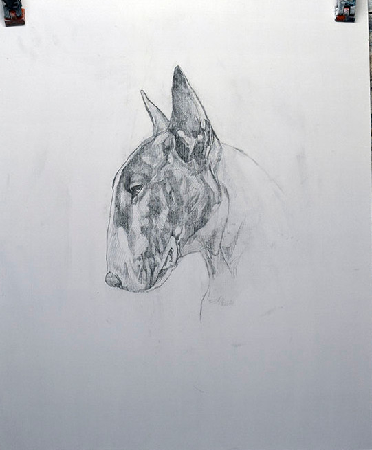 Oil Painting Technique Stage 1 UnderDrawing