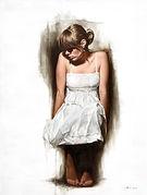 White Dress Sitting Brier Art, Modern Realism, Figurative Realism, Abstract Figurative Realism, Figurative Oil Painting, Figurative Artwork, Realist Artwork, Figurative Fine Artwork UK, Contemporary Artwork, Realism Oil Paintings, Figurative Paintings