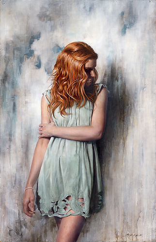 No Remorse Original Alkyd Oil Painting by UK Figurative Artist Jonathan Brier  Art Broken Realism Artwork