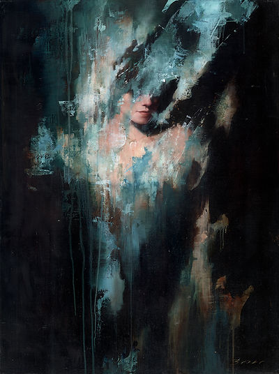 Becoming the Shadow Of Ones Former Self Oil Painting by Jonathan Brier Broken Realism Figurative Art