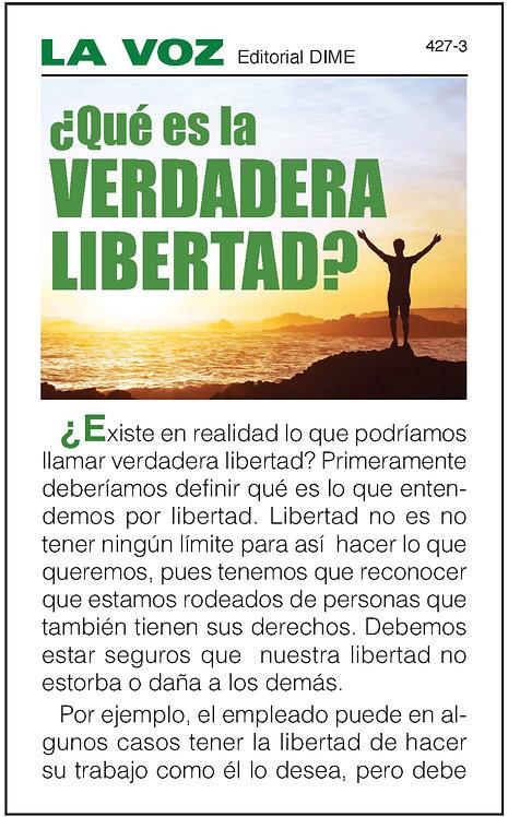 ¿Qué es la verdadera libertad? (25 ejemplares)