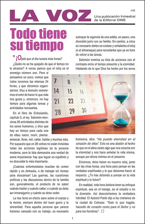 La Voz 440, 50 ejemplares