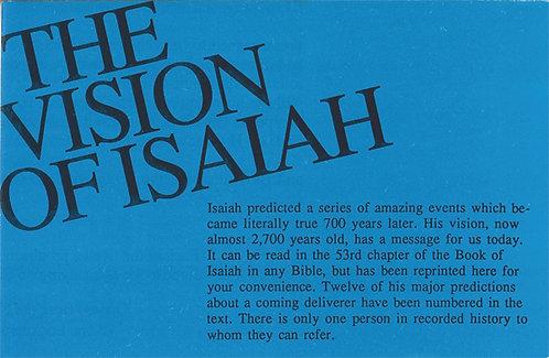 The vision of Isaiah (25 ejemplares)