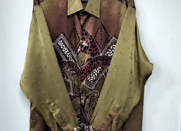 Press-Silk Shirt Men
