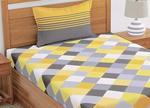 Wet/Dry Clean-(Single) Bedsheet Household