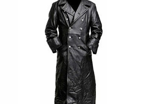 Wet/Dry Clean-Leather Overcoat