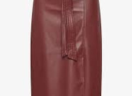 Wet/Dry Clean-Leather Skirt