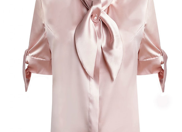 Wet/Dry Clean-Silk Blouse Lady