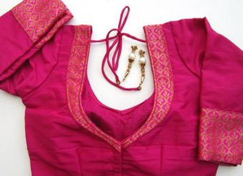 Wet/Dry Clean-Saree Blouse Lady