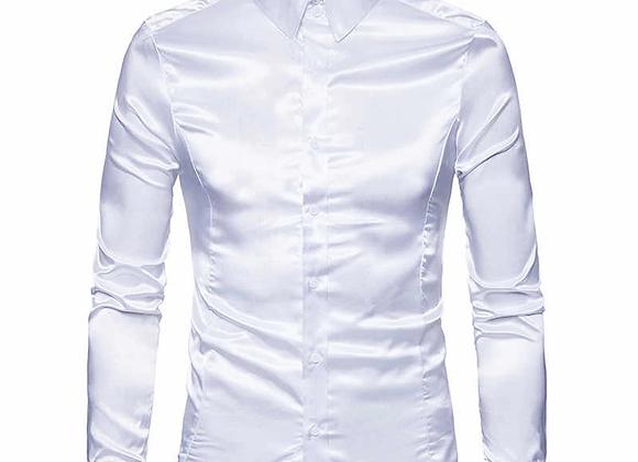 Wet/Dry Clean-Silk Shirt Men