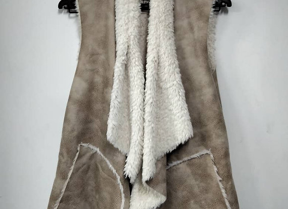 Wet/Dry Clean-Leather Overcoat Vest