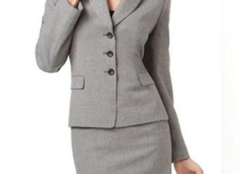 Wet/Dry Clean-Mini/Midi Skirt Suit Lady
