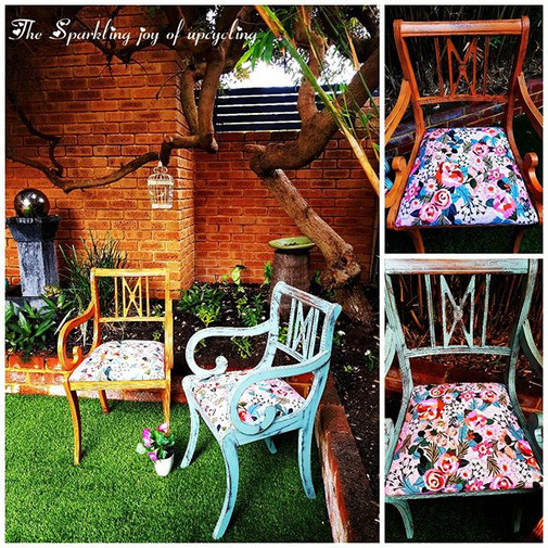 The Sparkling joy of upcycling  Chairs d