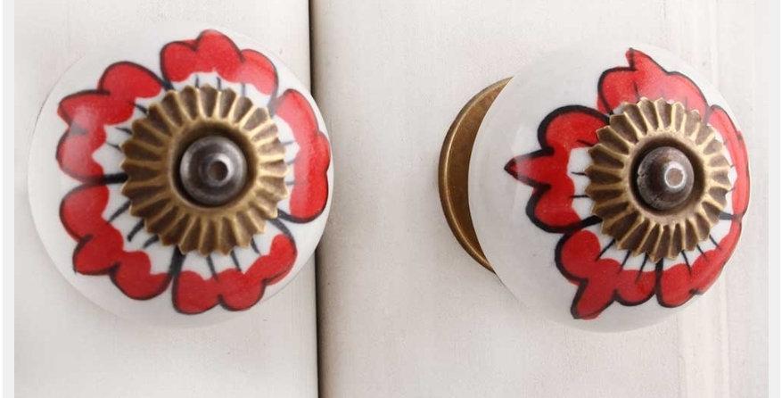 Knob red Hibiscus