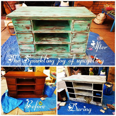 The Sparkling joy of upcycling  Before..
