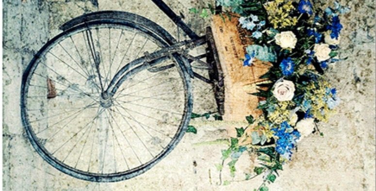 Vintage bicycle Decoupage
