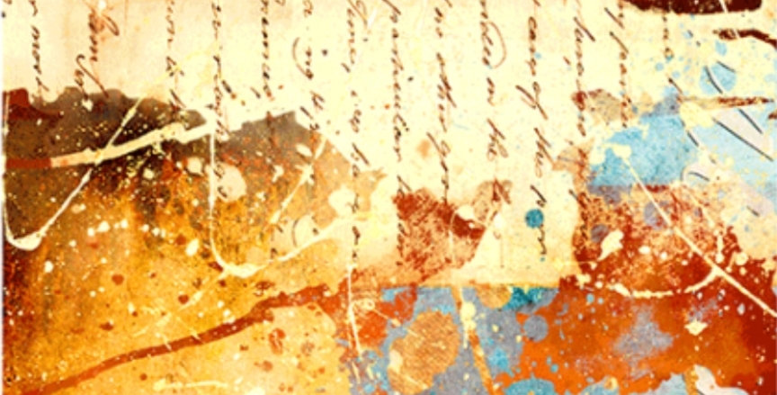 Old letter Decoupage