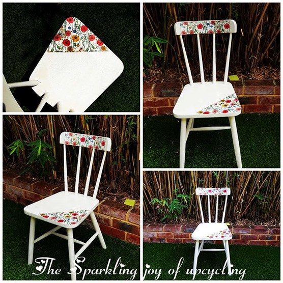 The Sparkling joy of upcycling  Chair an