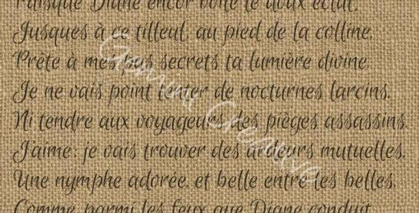 Gemini French Script stencil