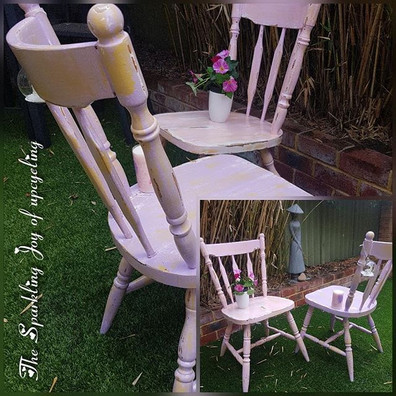 """The Sparkling Joy of upcycling """"One sits"""