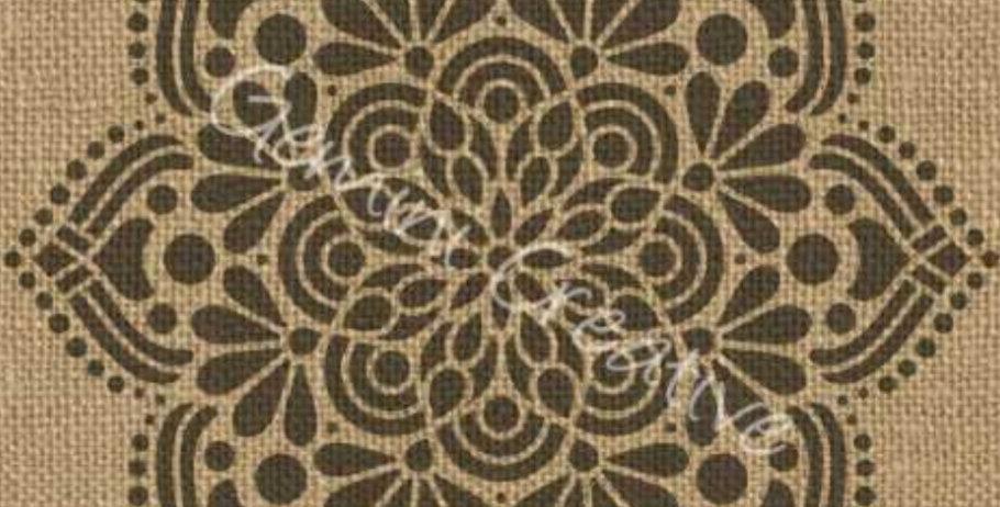 Gemini Mandala 7 stencil