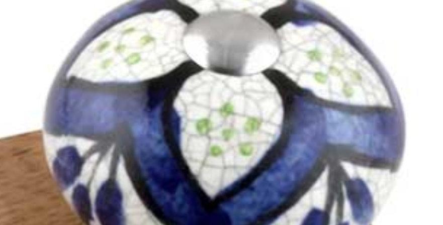 Knob Navy Blue crackle