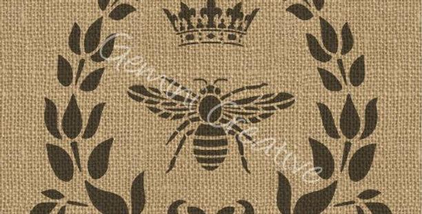 Gemini Bee Crown Wreath 2 stencil