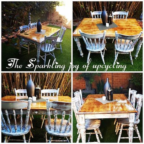 The Sparkling joy of upcycling  Set tabl