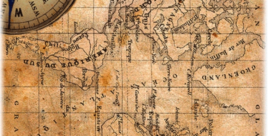 Old map Decoupage