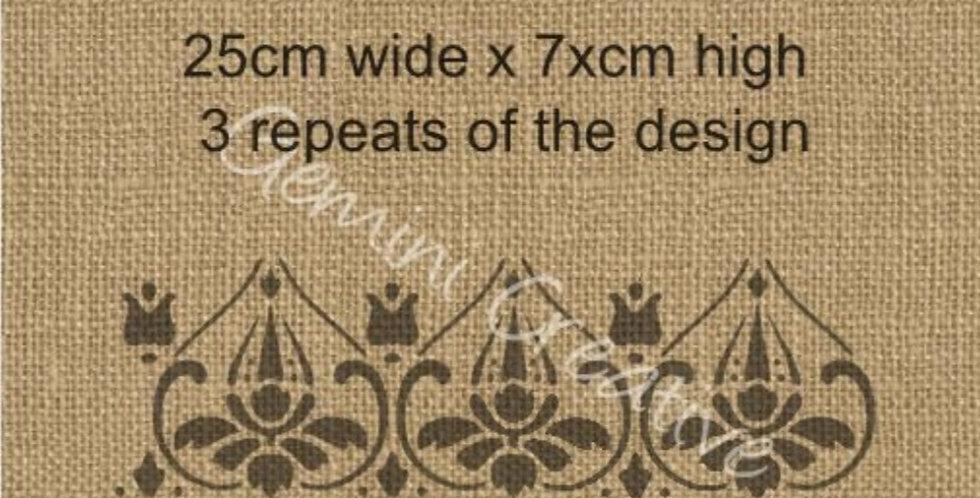 Gemini Mandala 3 border Stencil