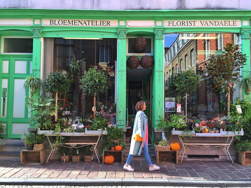 Lonnies Planet at Florist Vandaele in Bruges