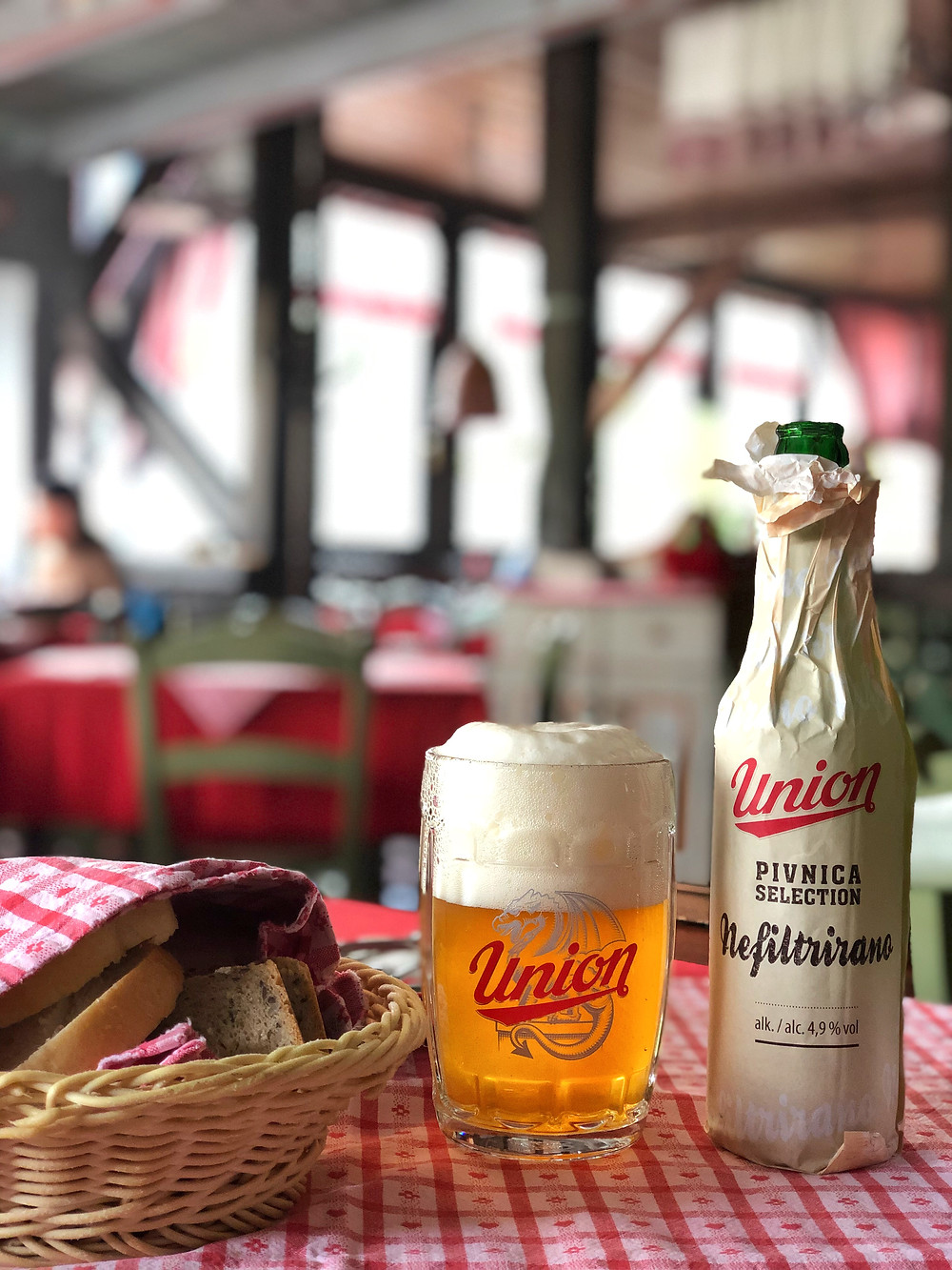 Union Beer at Restaurant Pri Martinu's, Kranjska Gora, Slovenia
