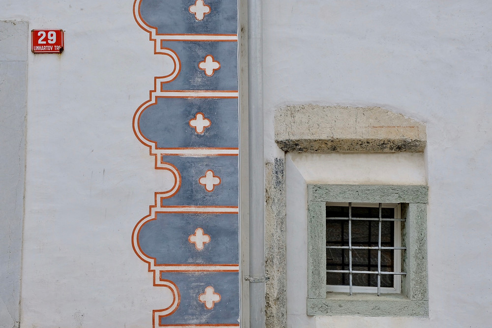 Painted building, Radovljica, Slovenia