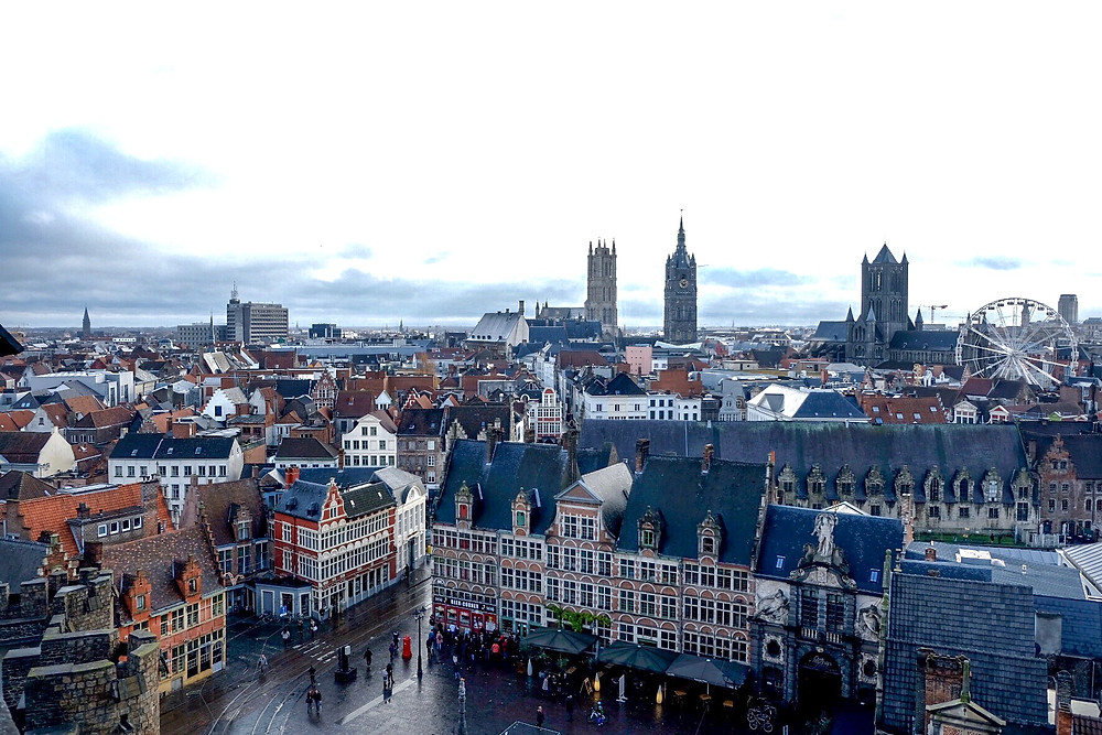View from Gravensteen Ghent