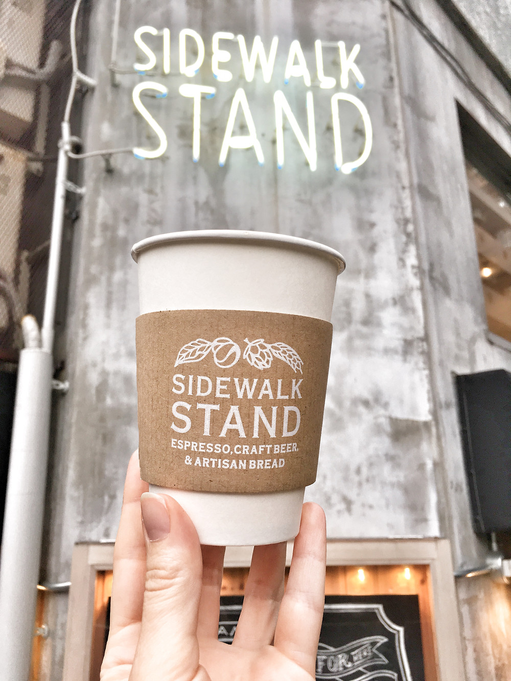 Coffee from Sidewalk Stand Tokyo Japan