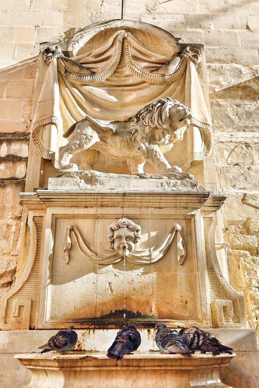 Fountain in Valletta, Malta