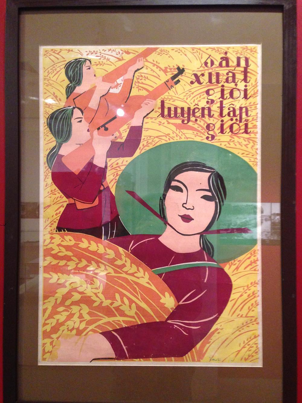 Poster at Vietnamese Woman's Museum Hanoi
