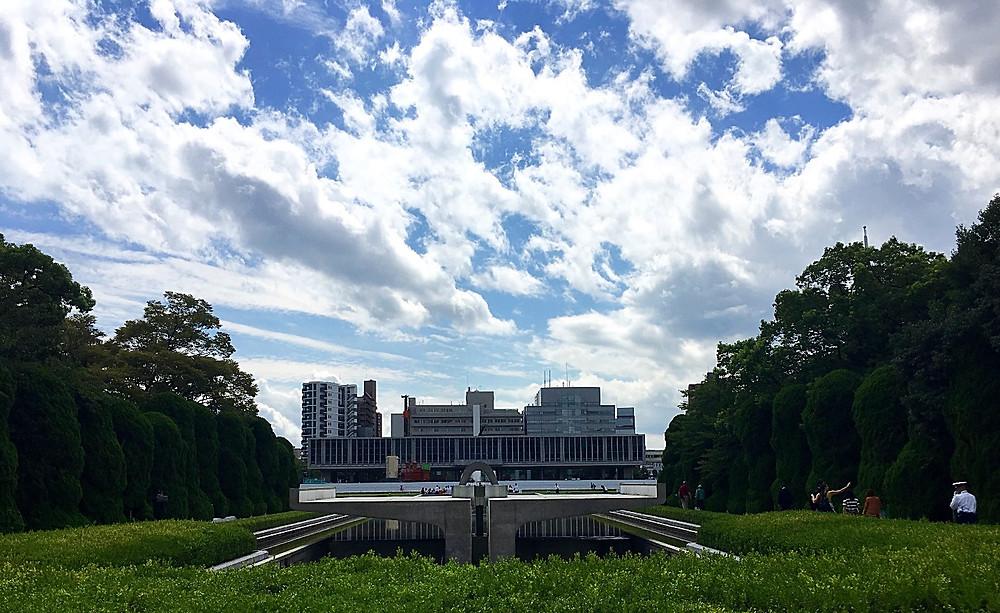 Peace Memorial Park in Hiroshima Japan
