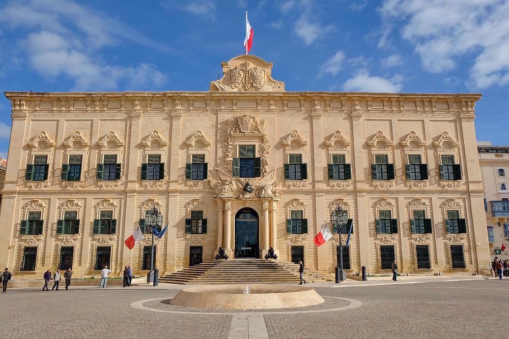 Auberge de Castille in Valletta