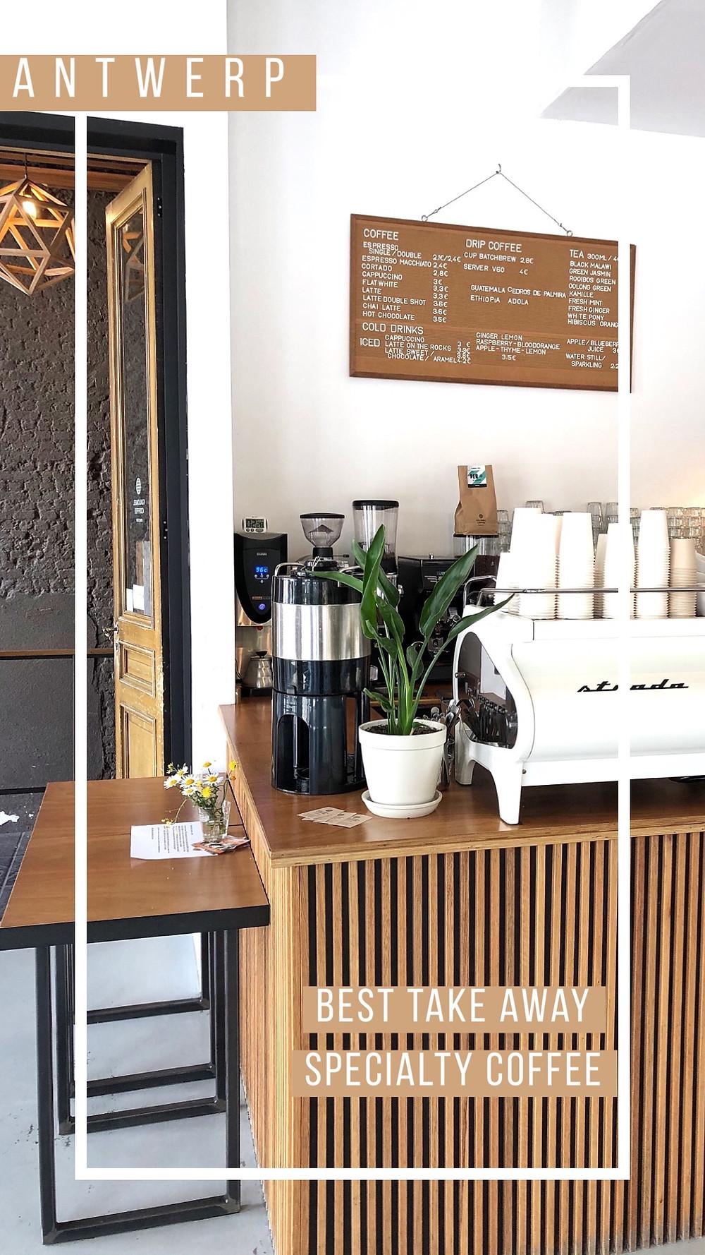 Lonnies Planet Pinterest post Coffee in Antwerp