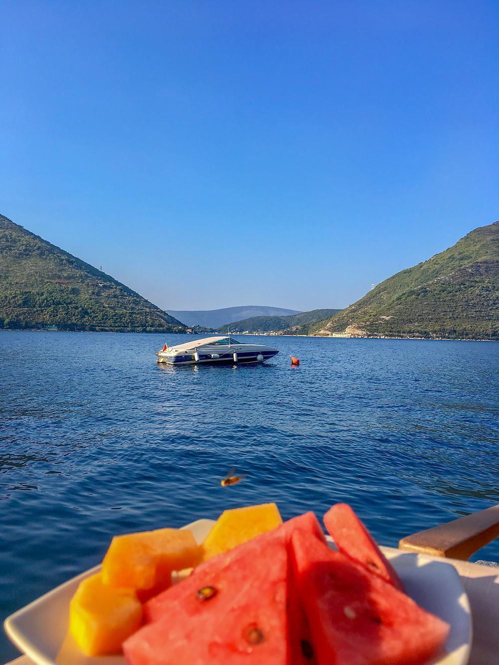 Breakfast at Hotel Conte, Perast Montenegro