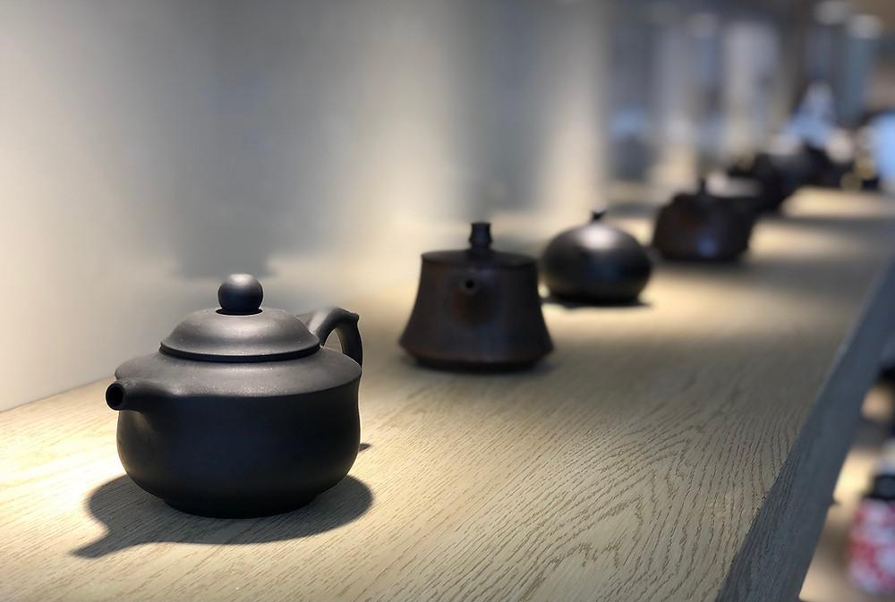 Tea pots at Biochi Sint-Niklaas
