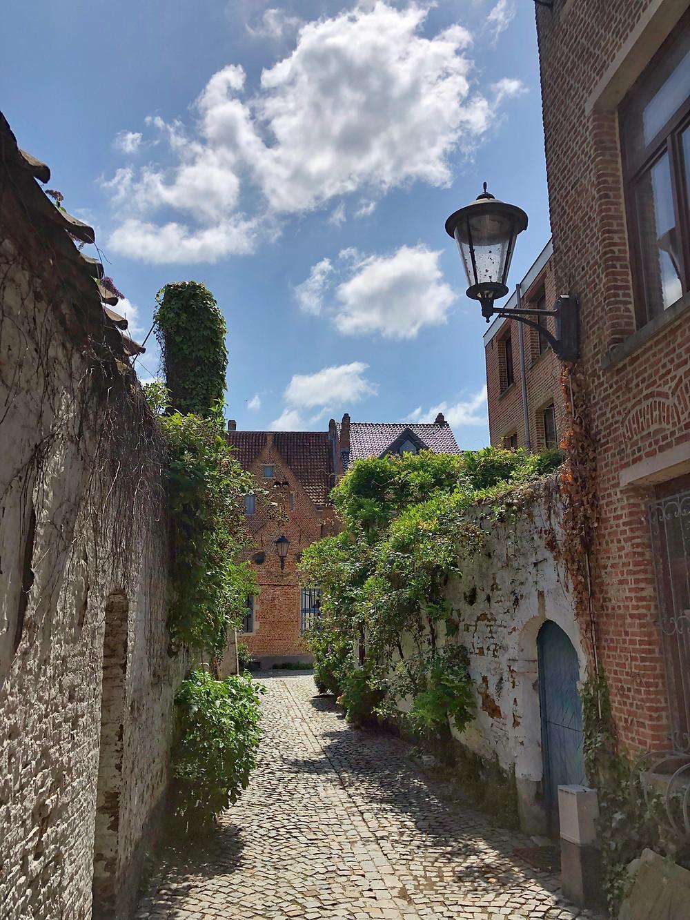Large beguinage in Mechelen Belgium