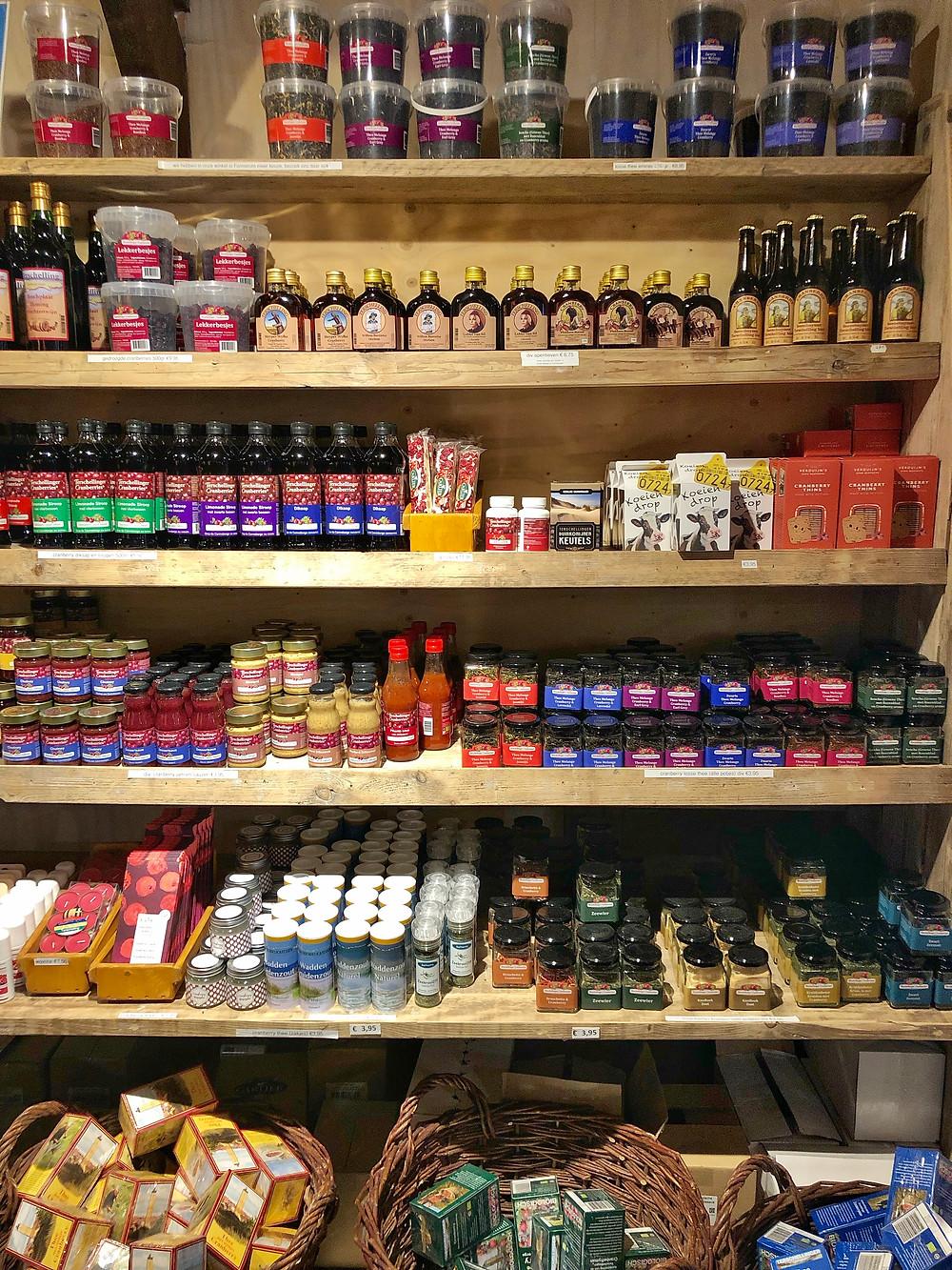Local products at De Bessenschuur Terschelling