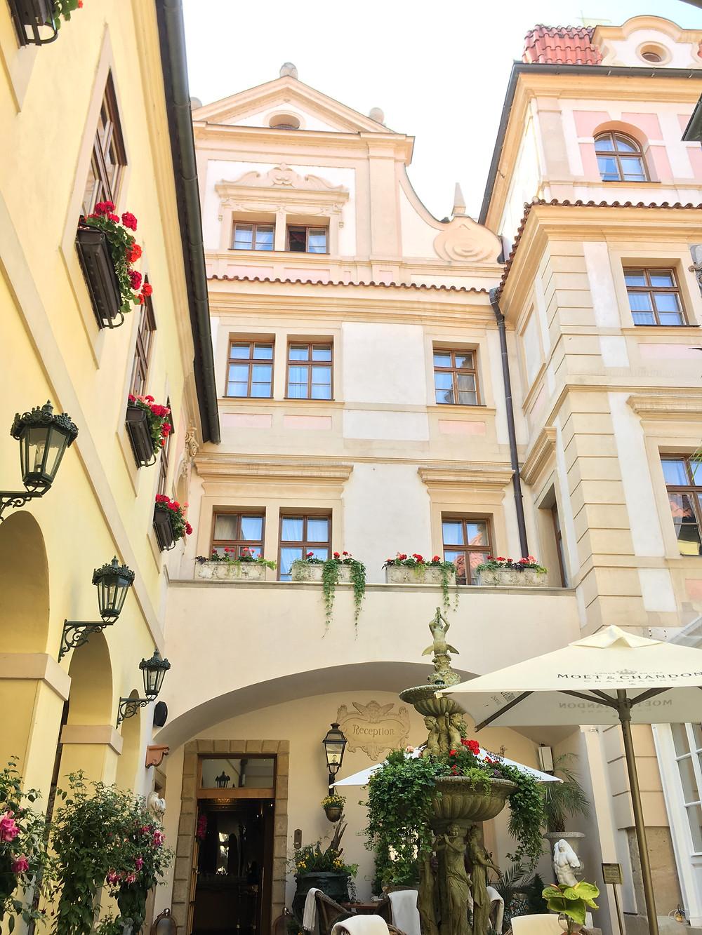 Terrace of Alchymist Grand Hotel & Spa in Prague