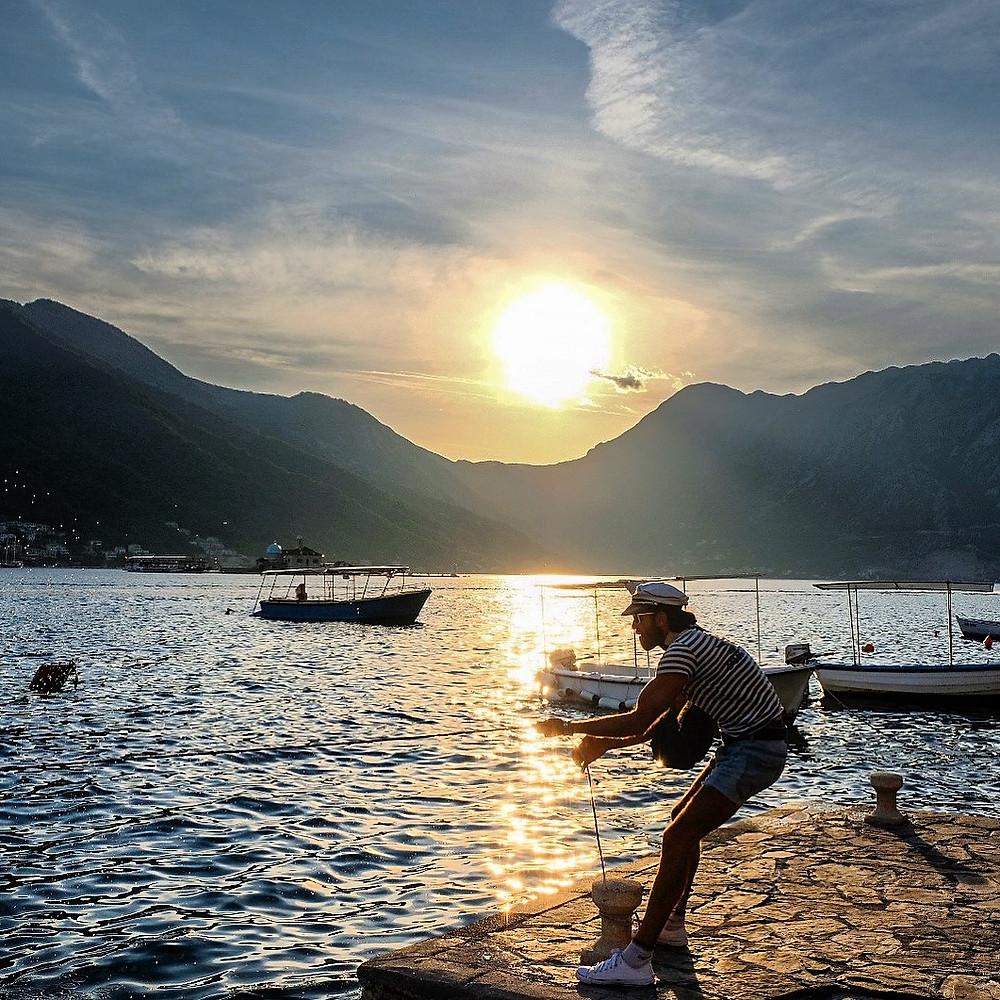 Sunset in Perast Montenegro