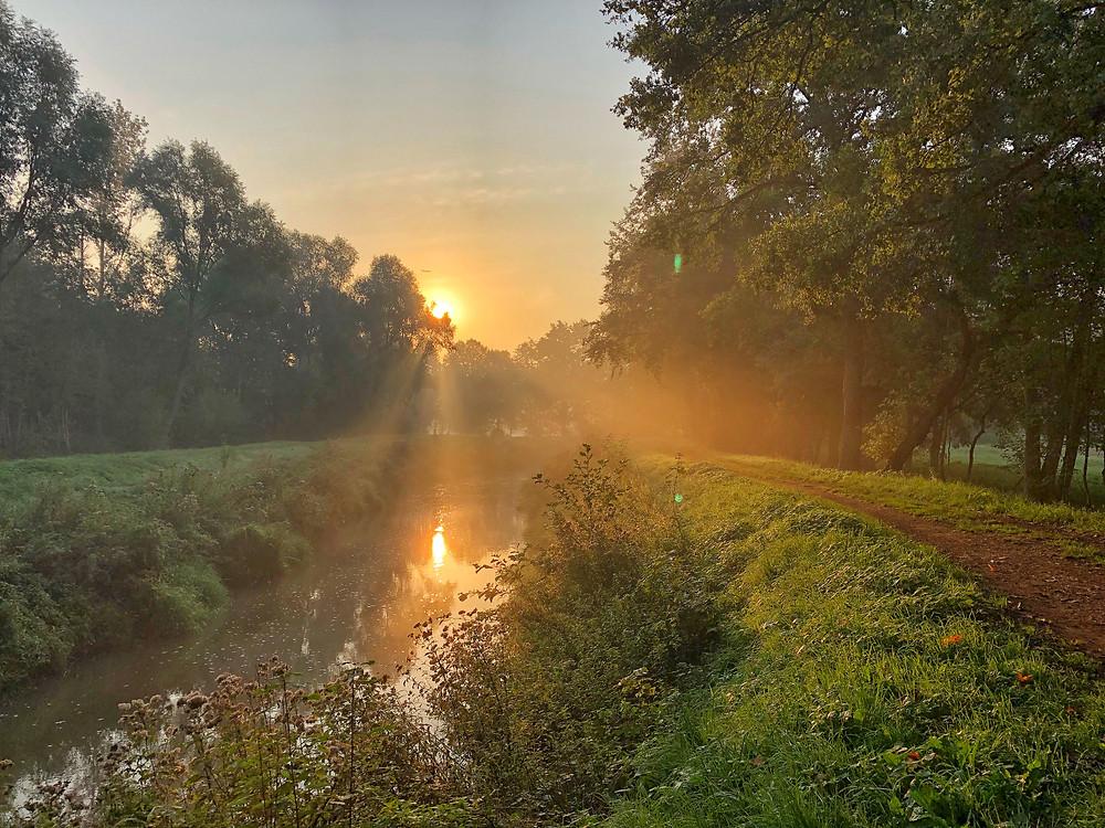 Grote Nete during sunrise Belgium